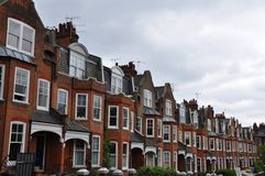 Edwardian houses London UK royalty free stock photography