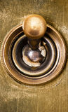 Edwardian lightswitch. Close up of an old Edwardian light switch Stock Images