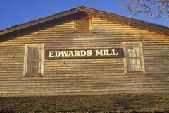 Edwards Mill, Water/Machtsmolen, Ozarks, MO royalty-vrije stock afbeelding