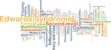 Edwards syndrome background concept Stock Photos
