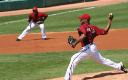Edwin Jackson pitches in an Arizona Diamondbacks g Royalty Free Stock Photo