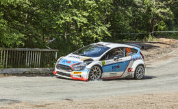 Edwin Keleti - Botond Csomortani- Transylvania Rally 2014 Stock Photography