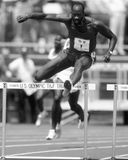 Edwin Moses. USA hurdler Edwin Moses. (Image taken from  b&w negative Stock Images