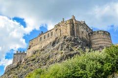 Edynburg kasztel i Grodowa skała, Edynburg, Szkocja obraz stock