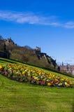 Edynburg kasztel widzieć od kopa Zdjęcia Royalty Free