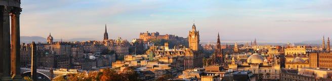 Edynburg linii horyzontu panorama Obraz Stock