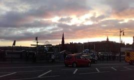 Edynburg niebo Zdjęcia Royalty Free