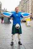 EDYNBURG, SZKOCJA, UK †'Wrzesień 18, 2014 - niezależności referendum dzień Zdjęcia Stock