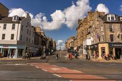 EDYNBURG, UK, SIERPIEŃ 29 2018: Chodzić w ulicach Edynburg miasto Edynburg jest stolicą Szkocja zdjęcie royalty free