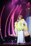 Edyta Piecha sorridente al suo concerto di anniversario Fotografie Stock