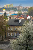 Edzionkow`. Radzionkow.Poland - APRIL 23. citysape of small tow at uppersilesia. 23 april 2016. Radzionkow.Poland Stock Images