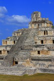 Edzna. Principal building of the ancient maya ruins of Edzna, in campeche, mexico stock photos