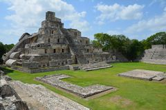 Edzna Archaeological Site near Campeche Mexico stock images