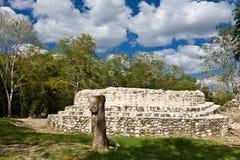 Edzna - ciudad maya vieja, México Fotografía de archivo