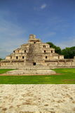 Edzna I. Principal building of the ancient mayan city of Edzna, in campeche, mexico royalty free stock images