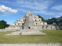 Edzna Mexico Fotografering för Bildbyråer