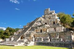 Edzna - oude Mayan stad, Mexico Royalty-vrije Stock Foto's