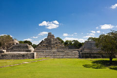 Edzna - oude Mayan stad, Mexico Stock Foto
