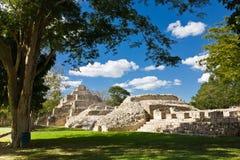 Edzna - oude Mayan stad, Mexico Royalty-vrije Stock Foto