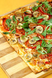 EDZR - Cheese, banana and arugula Pizza Royalty Free Stock Photo