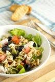 EDZR-deegwaren salade met toosts Royalty-vrije Stock Afbeeldingen