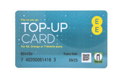EE Pay as you go top-up card Royalty Free Stock Photo