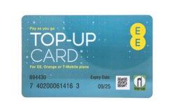 EE wynagrodzenie dopełnia kartę gdy ty iść Zdjęcie Royalty Free
