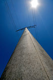 Eectric main. Column an electric main, on  background  sky Royalty Free Stock Image