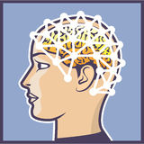 EEG brainwave reading Vector Illustration Stock Photo