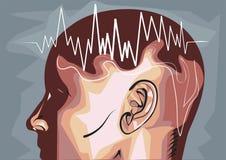 Eeg d'ondes cérébrales illustration libre de droits