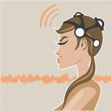 EEG Headsest Photographie stock
