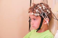 EEG que conduce para un niño Imagen de archivo libre de regalías