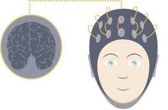 EEG y cerebro Foto de archivo libre de regalías
