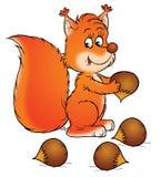 Eekhoorn stock illustratie