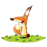Eekhoorn die zich op gras bevinden Royalty-vrije Stock Foto's