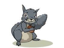 Eekhoorn met een eikel Stock Afbeelding