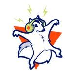 Eekhoornmuziek Royalty-vrije Stock Afbeeldingen
