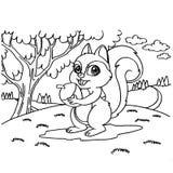 Eekhoorns die Pagina'svector kleuren Royalty-vrije Stock Foto's