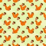 Eekhoorns naadloos patroon Stock Afbeeldingen
