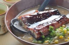 Eel fish noodle Stock Photo