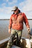 Eel Fisherman Stock Photo