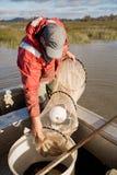Eel Fisherman Stock Image