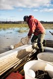 Eel Fisherman Royalty Free Stock Photography