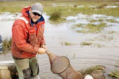 Eel Fisherman Royalty Free Stock Image