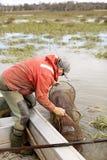 Eel Fisherman Royalty Free Stock Photo