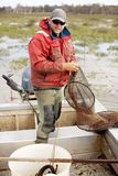 Eel Fisherman Royalty Free Stock Image