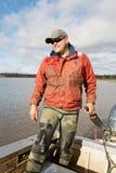Eel Fisherman Royalty Free Stock Photos
