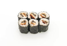 Eel maki sushi- japanese food style Stock Photos