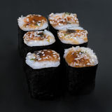 Eel nori rolls Royalty Free Stock Images