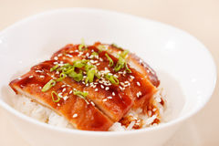 Eel on rice Royalty Free Stock Images
